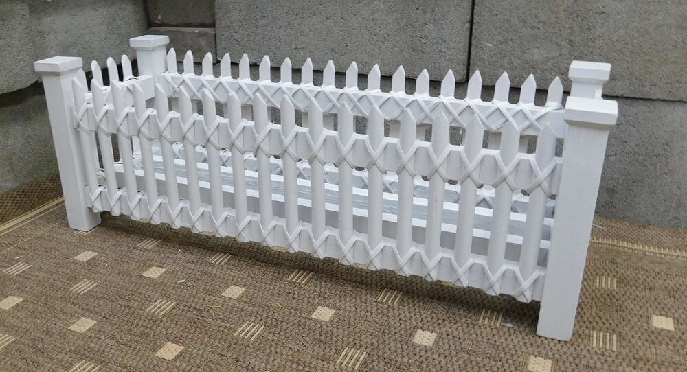 Brand New Wooden Picket Fence Planters Ebay