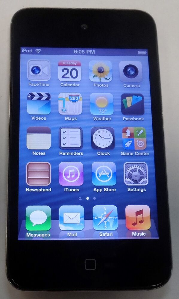 Apple iPod touch A1367 4th Generation Black 8GB ...