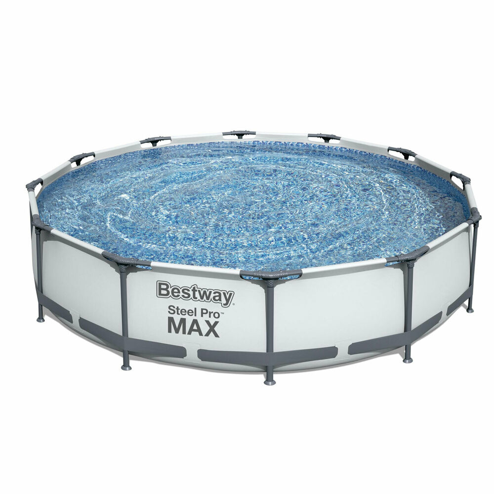 Bestway Steel Pro 12ft X 30in Frame Above Ground Swimming
