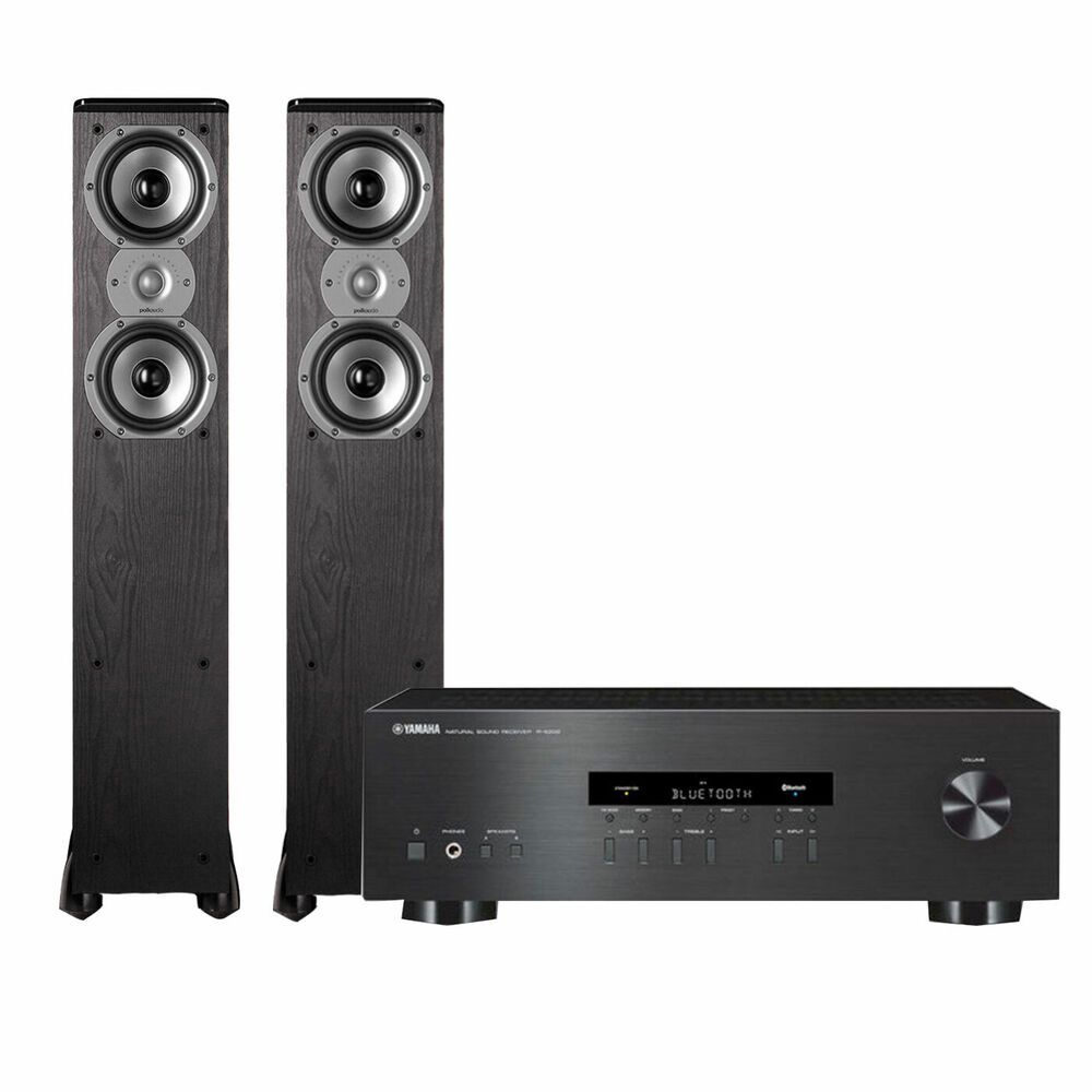 yamaha rs202 stereo receiver polk tsi300 tower speaker. Black Bedroom Furniture Sets. Home Design Ideas
