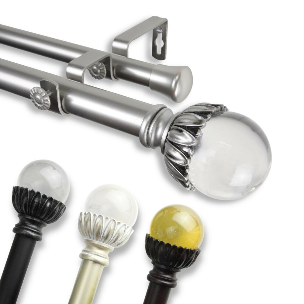 """*Double Curtain Rod* 1"""" OD #10-13 Choose From 4 Colors And"""