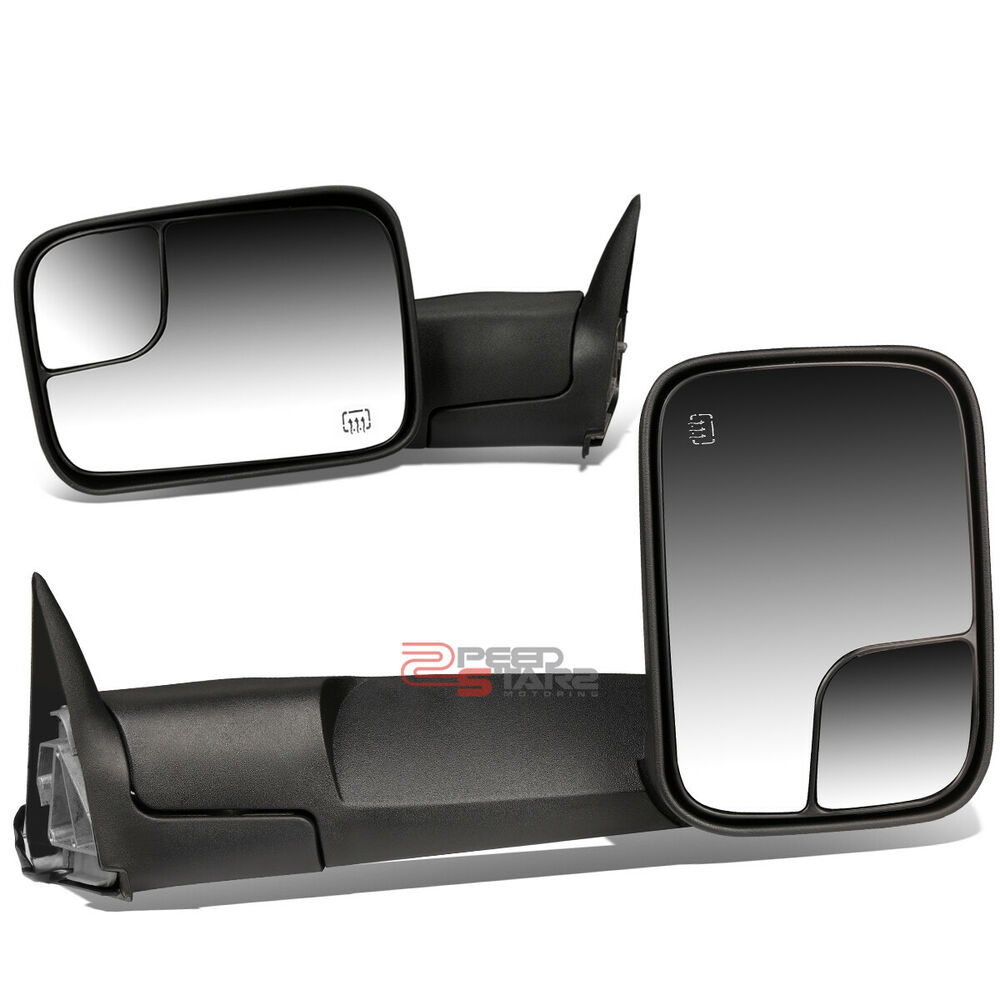 Power Heated Manual Extendable Rear Towing Mirror For 98