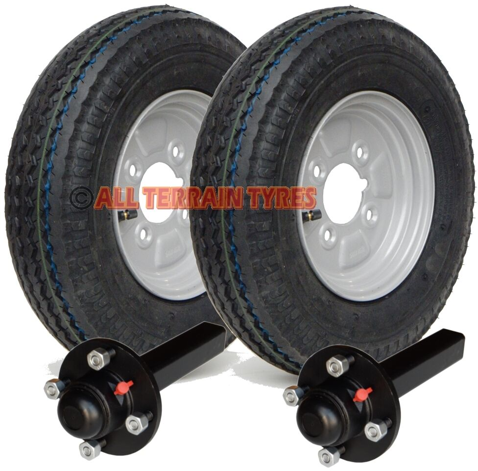 Trailer Axles With Wheels : Ply road trailer kit wheels tyres hubs