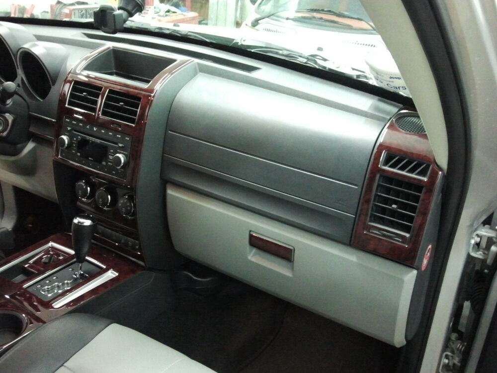 Dodge Nitro Sxt Se R T Interior Wood Dash Trim Kit Set 2007 2008 2009 2010 2011 Ebay