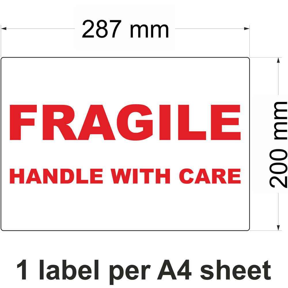Details about fragile handle with care labels stickers multiple sizes available