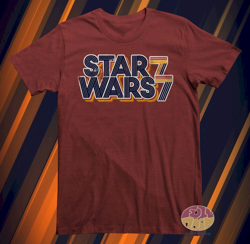 New star wars 77 classic vintage logo mens retro t shirt for Vintage star wars t shirts men