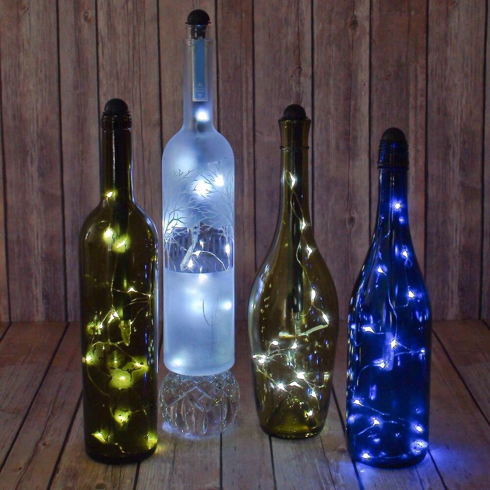 Wine Bottle Led Lights Battery Bar Rec Room Light My