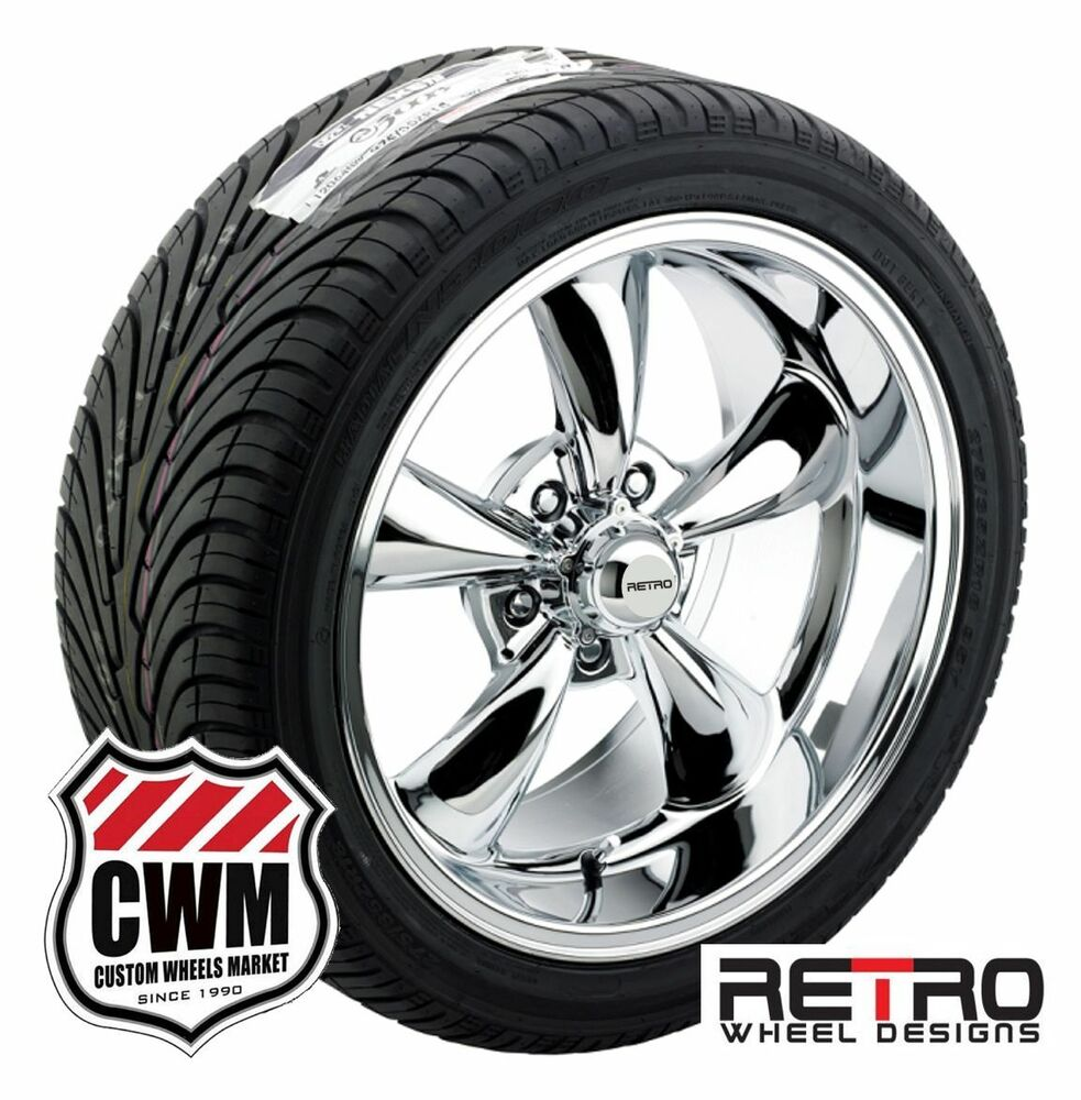 17 18 inch staggered chrome wheels rims tires for chevy camaro 1967 1981 ebay. Black Bedroom Furniture Sets. Home Design Ideas