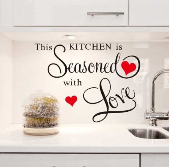 Kitchen Decor Quotes: This Kitchen Is Seasoned With Love Vinyl Quote Wall