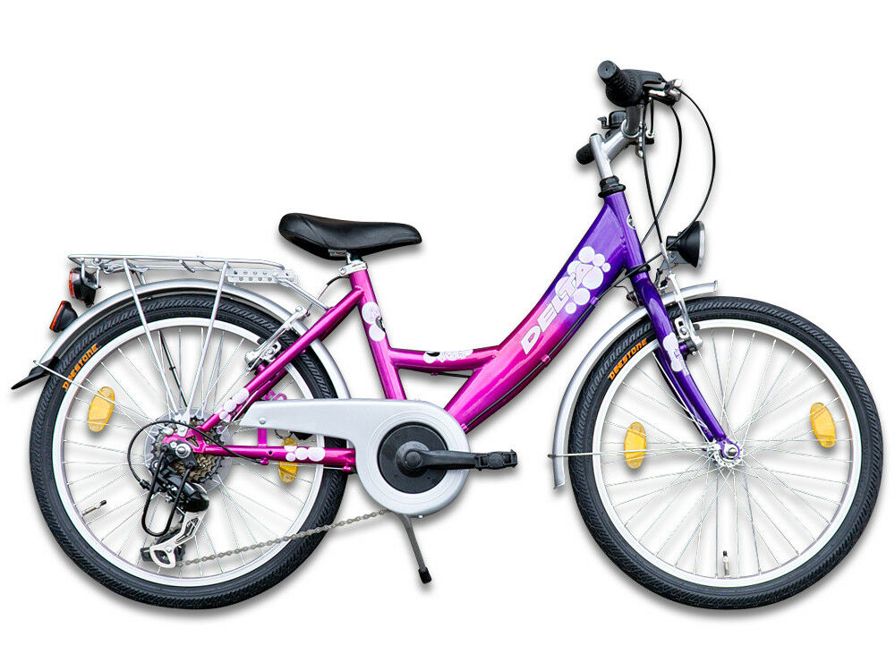20 zoll m dchenfahrrad kinderfahrrad 6 gang fahrrad mit beleuchtung ebay. Black Bedroom Furniture Sets. Home Design Ideas