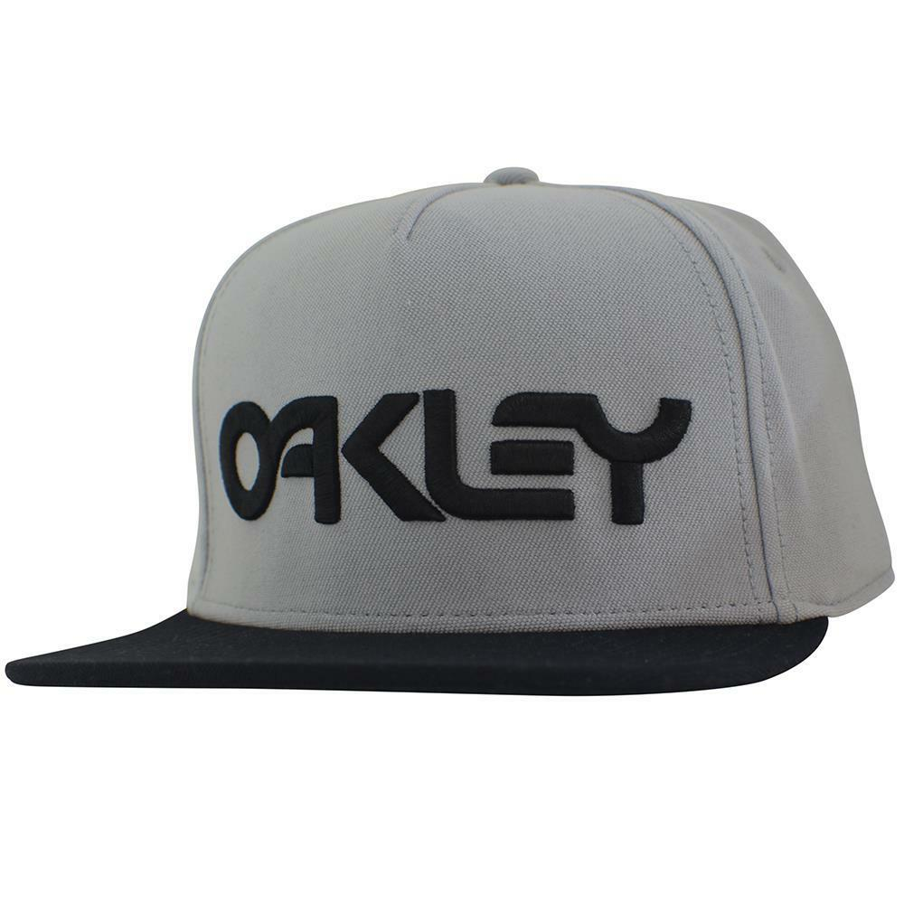 Oakley Typhoon Cap Grey Large Black Logo Snapback ...