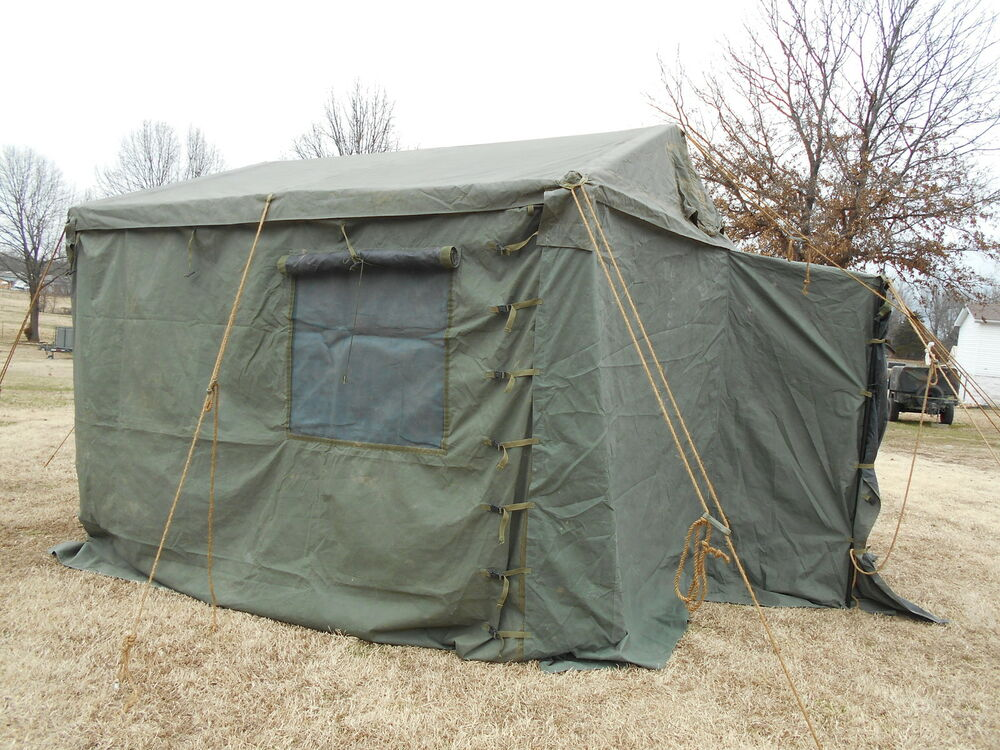 Navy Surplus Tent : Military tent modular command post with floor