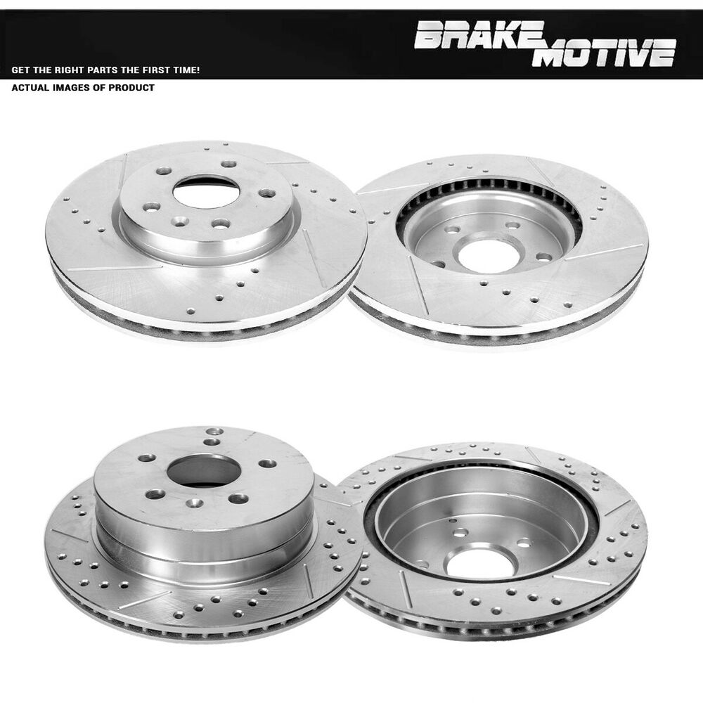 Front And Rear Brake Disc Rotors 2010 2011 2012 2013 CHEVY