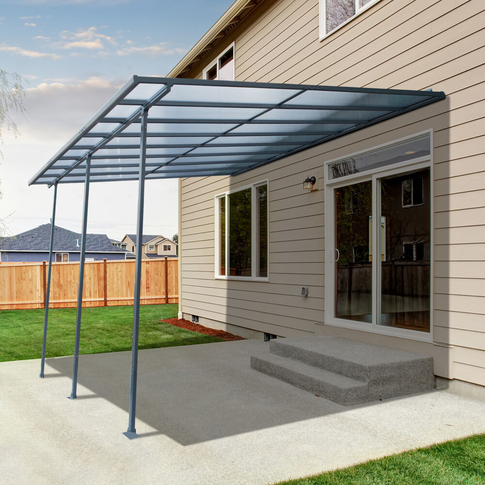 Outsunny 10' x 15' Patio Canopy Cover Door Window Awning ...