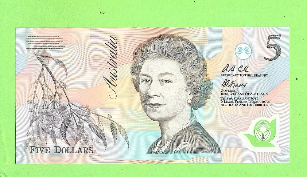 Picture of australian five dollar note serial numbers aa