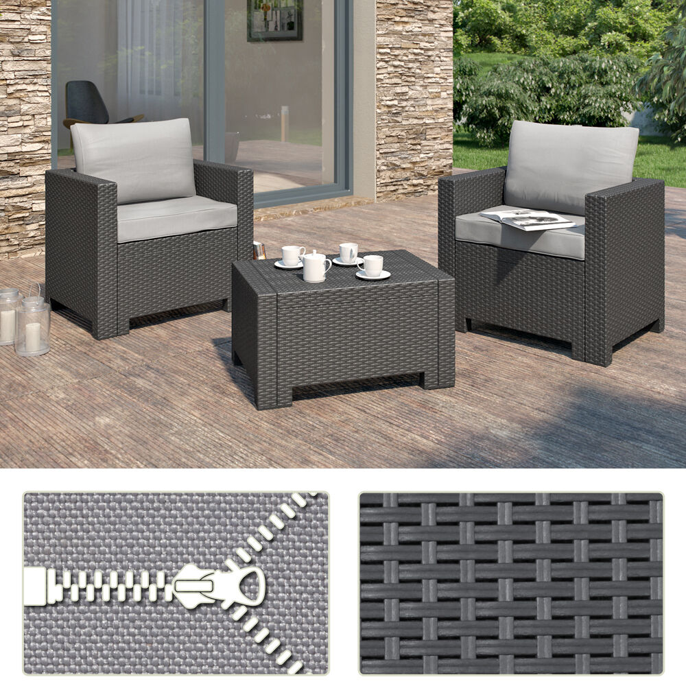 bica colorado balkonm bel set gartenm bel rattanoptik sitzgruppe polyrattan ebay. Black Bedroom Furniture Sets. Home Design Ideas