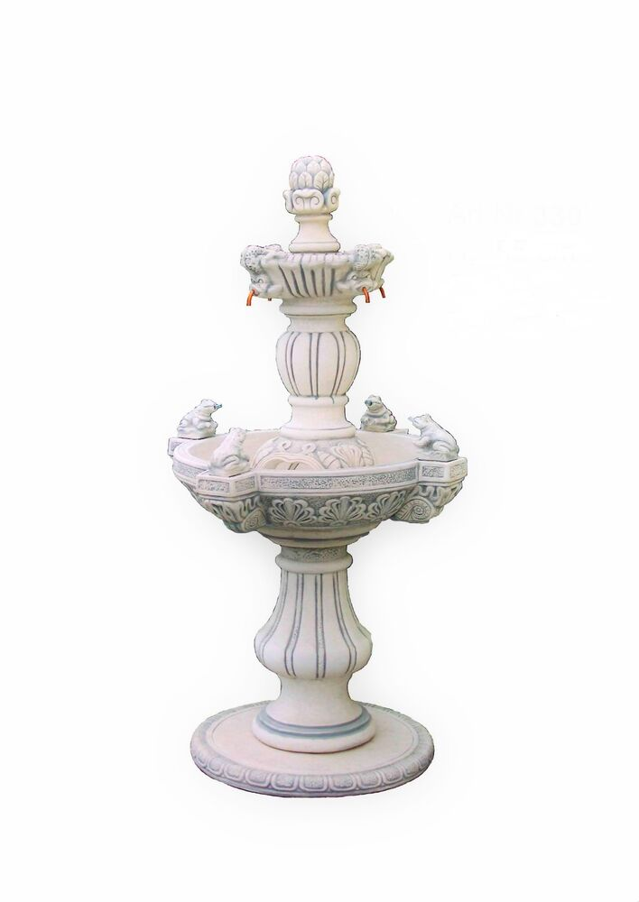 frosch kaskaden garten stein brunnen springbrunnen zierbrunnen wasserspiele ebay. Black Bedroom Furniture Sets. Home Design Ideas