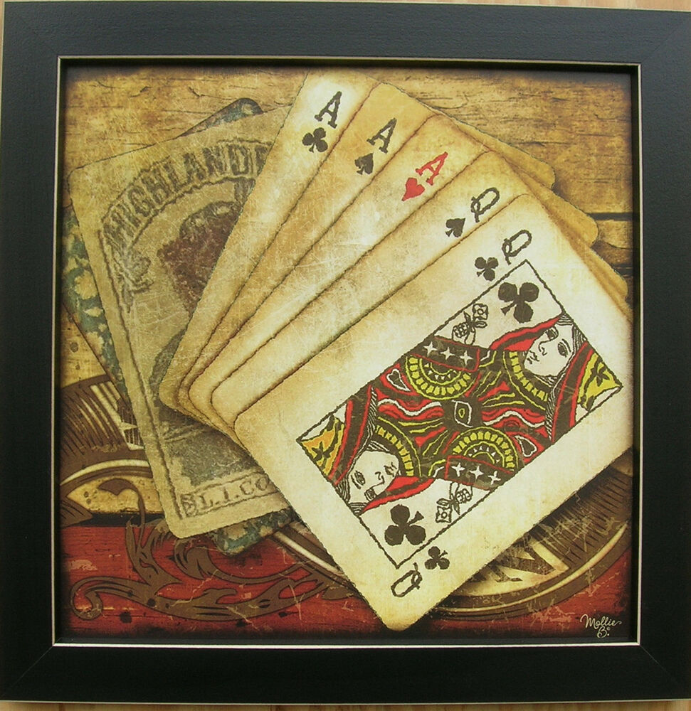 Poker Picture Game Room Prints Cards Prints Framed Country ...