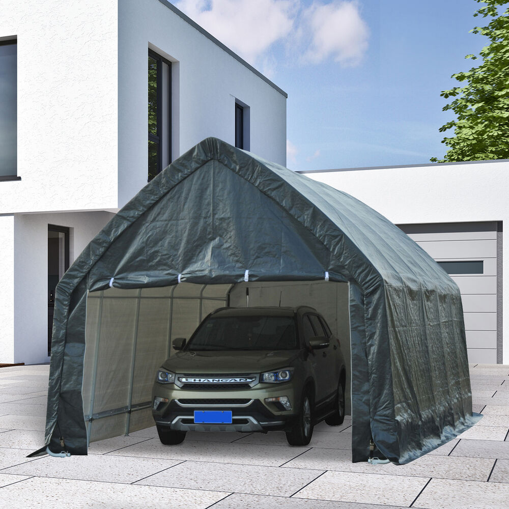 Heavy Duty Carport Canopy : Outsunny x heavy duty garage carport car shelter