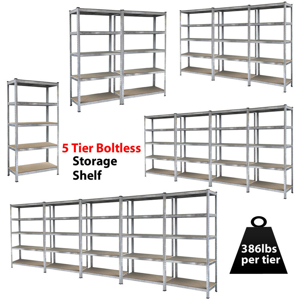 Heavy Duty Steel 71 Quot 5 Level Garage Shelf Metal Storage