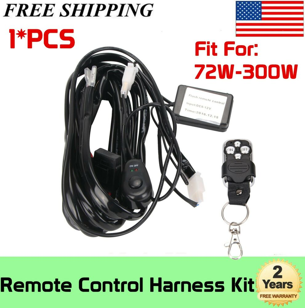 Remote control a v wiring harness kit switch relay