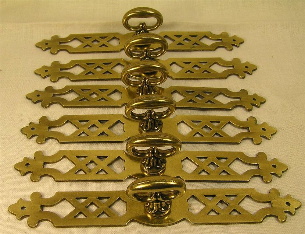 5 Vintage Style Brass Handles Pulls Knobs 6 Long Cabinet
