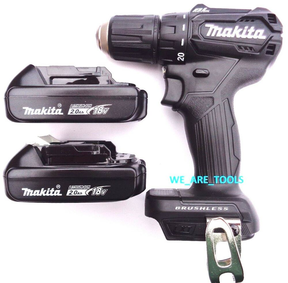 new makita 18v xfd11 brushless 1 2 drill driver 2 bl1820 batteries compact 692753655233 ebay. Black Bedroom Furniture Sets. Home Design Ideas