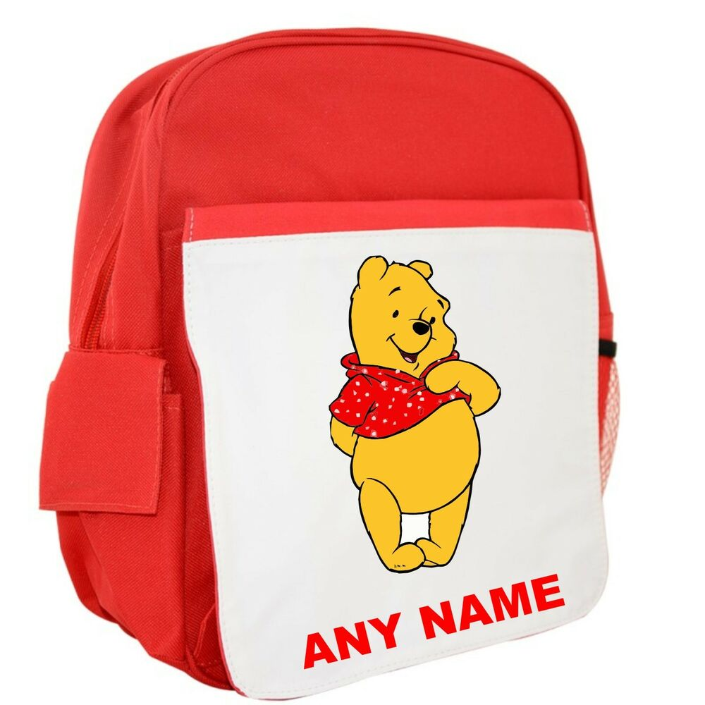 625b88b43e4 Details about Personalised Winnie The Pooh Style Backpack Rucksack School  Bag