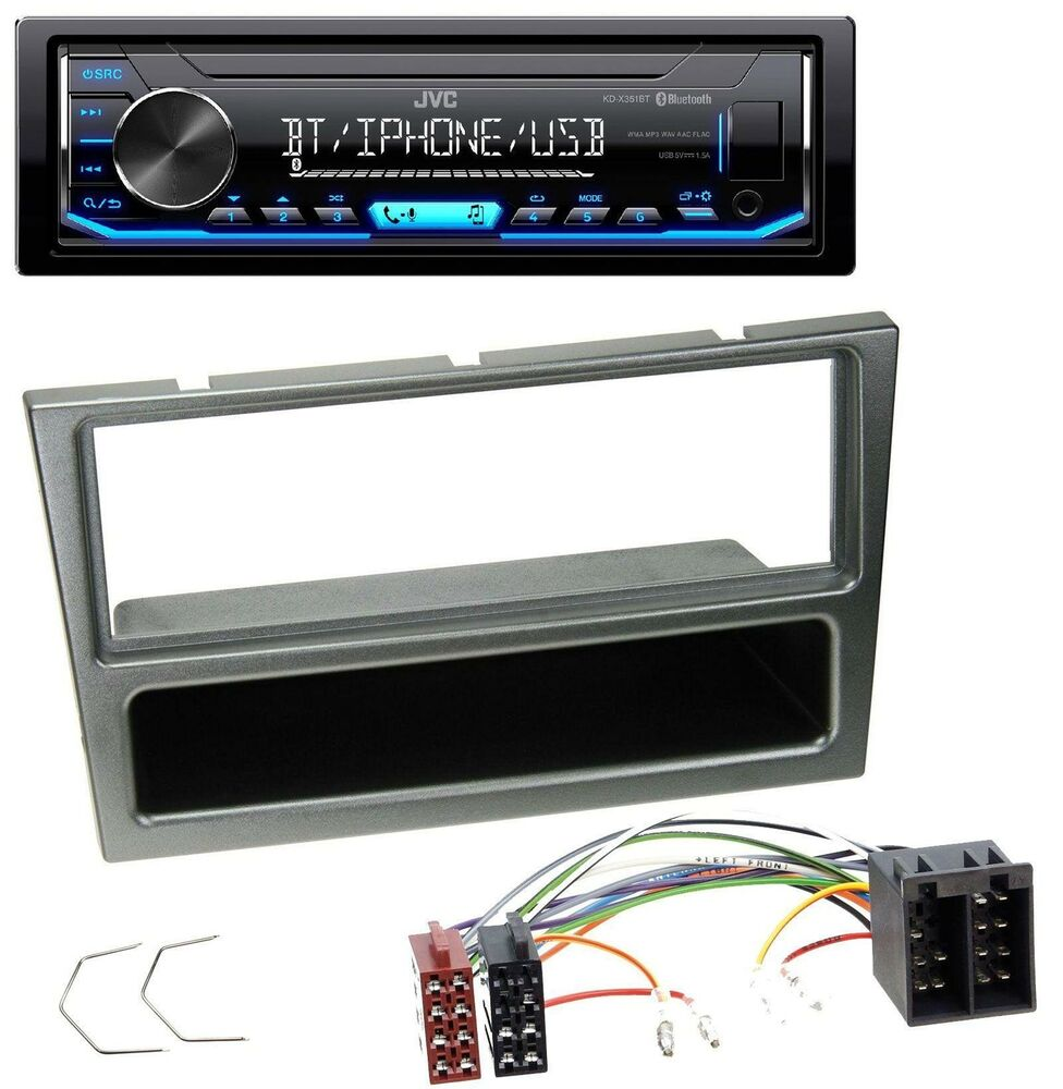 jvc mp3 bluetooth usb aux autoradio f r opel corsa c iso. Black Bedroom Furniture Sets. Home Design Ideas