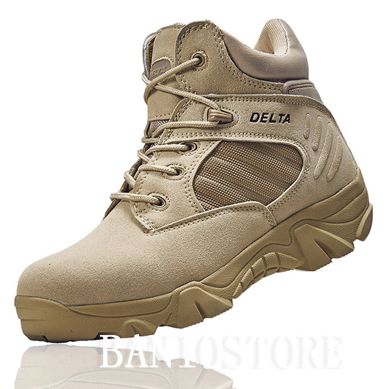 Men S Military Ankle Boot Tactical Leather Desert Combat