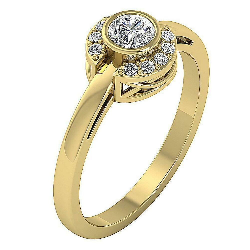 solitaire engagement ring i1 g real diamond 14k. Black Bedroom Furniture Sets. Home Design Ideas
