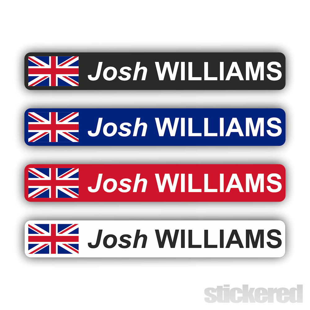 Details about 6 x personalised uk flag bike bicycle name stickers cycle mountain bmx racing