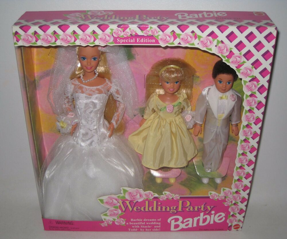 Wedding Gift Set Barbie : 1994 Mattel Barbie Wedding Party Special Edition Deluxe Gift Set NRFB ...