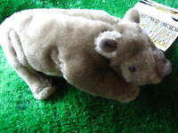 Soft Fur Plush Rhino Blade Golf Putter Head Cover Fun Gift Tab Fastening New