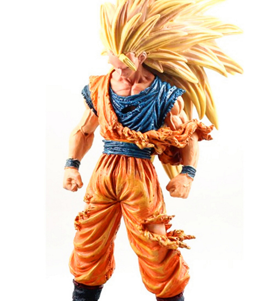Anime dragon ball z super saiyan son goku 3 pvc action - Dragon ball z goku son ...