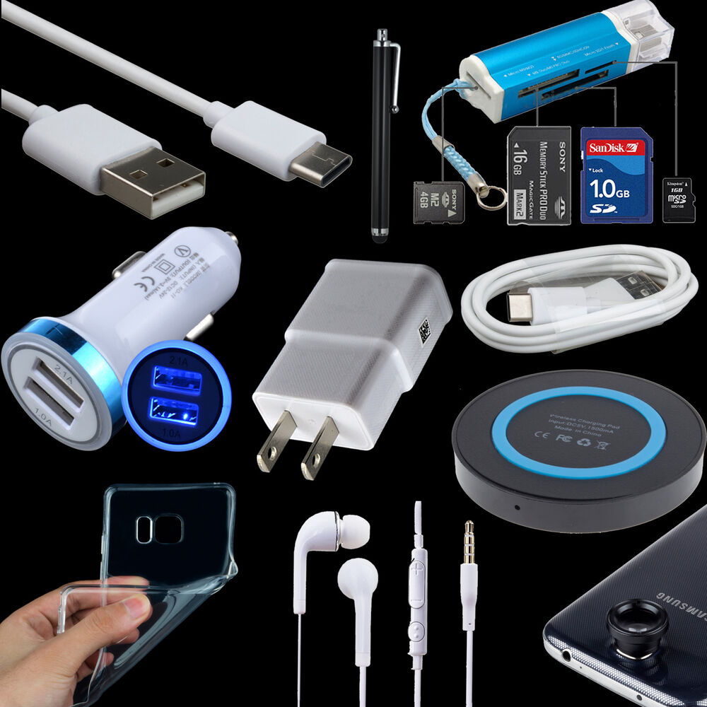 10 bundle wireless car home charger type c cable case for. Black Bedroom Furniture Sets. Home Design Ideas