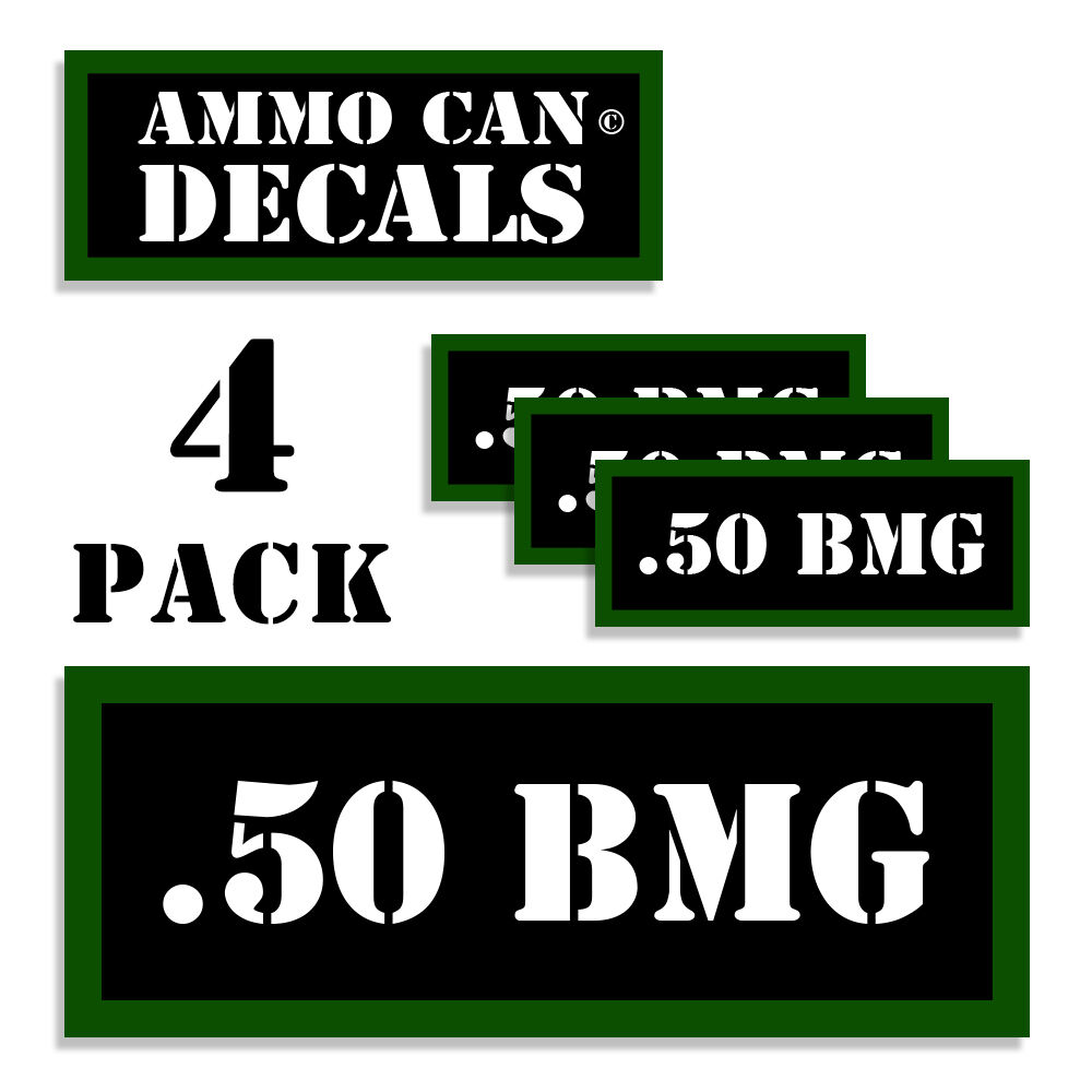 Details about 50 bmg ammo can 4x labels ammunition case 3x1 15 inch stickers decals 4 pack