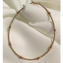 14k ROSE Gold Filled Stardust Bracelet/ Ankle Bracelet (2974) Plus Sizes too!
