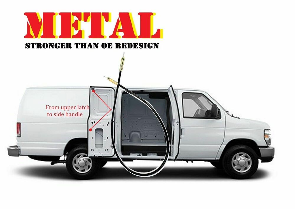 metal cable for ford van e150 e250 e350 side cargo double. Black Bedroom Furniture Sets. Home Design Ideas