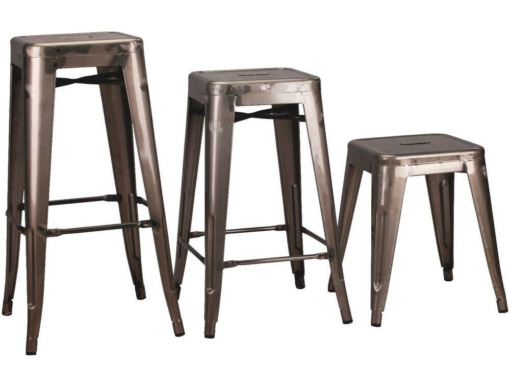 Tolix Metal Bar Stool Steel Industrial Breakfast Bar Cafe