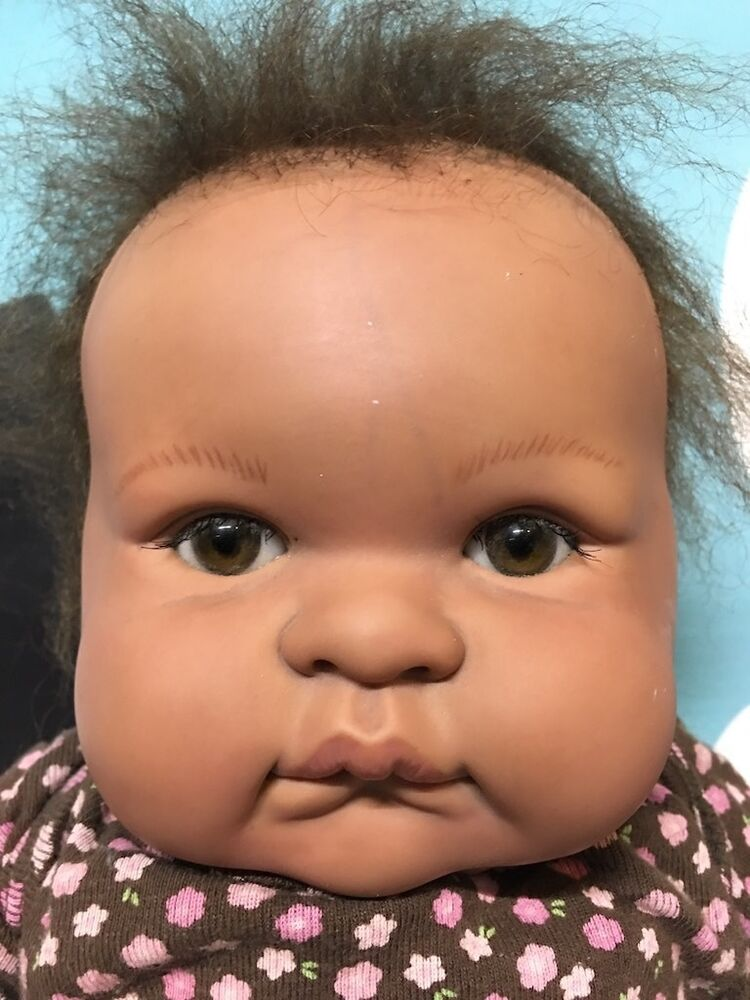 Berenguer Very Cute Baby Girl African American Doll Needs