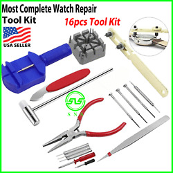 Kyпить 16pcs WATCH Repair Back Opener Kit Tools Band Pin Strap Link Remover Remover New на еВаy.соm