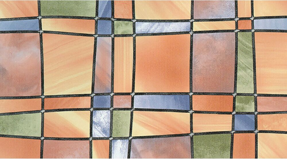 Stained Glass Window Fablon Wrap Self Adhesive Vinyl Film