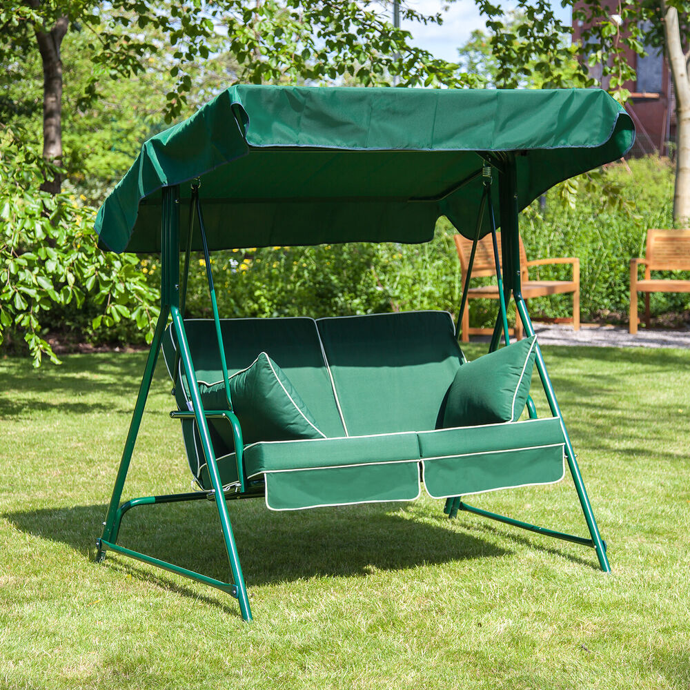 Mosca 2 Seater Garden Patio Swing Seat Green Frame With