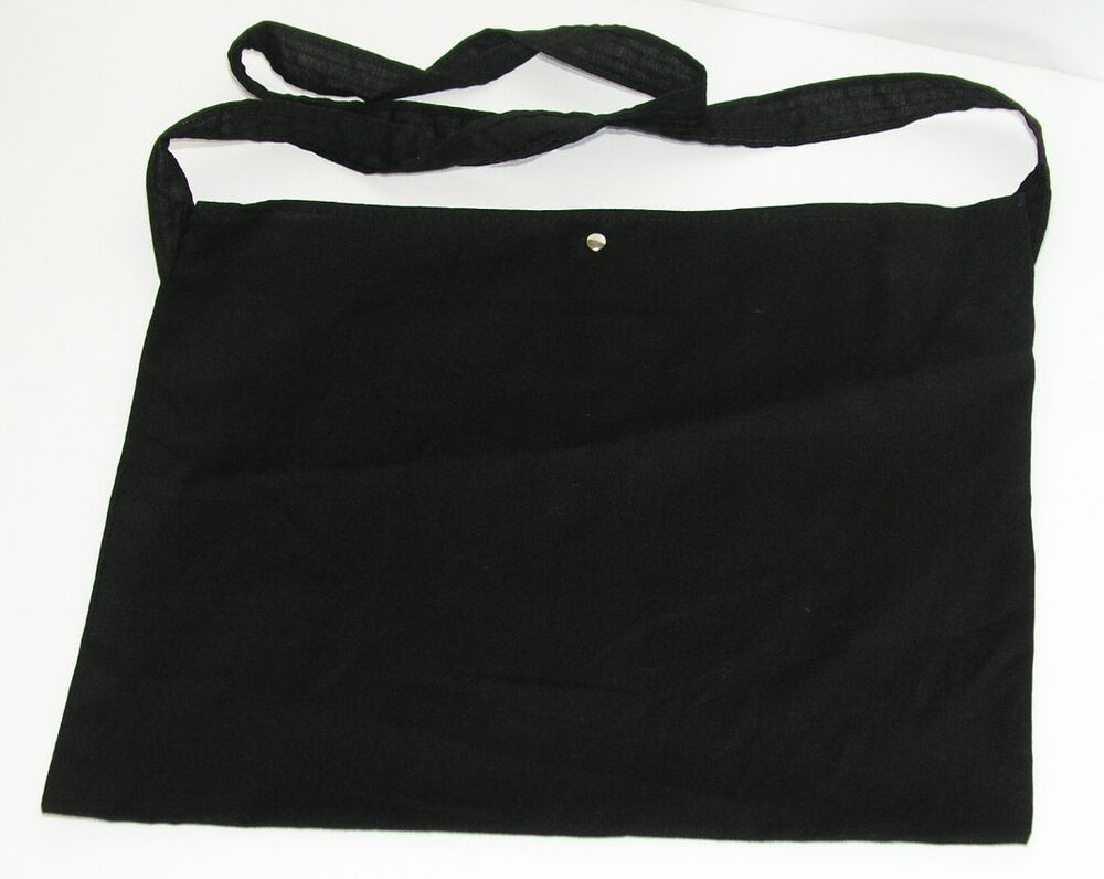 ce0ab0e045f9 Details about Cycling Feed Bag Musette BLACK Blank Promotion Tote Cotton  blend made in Italy