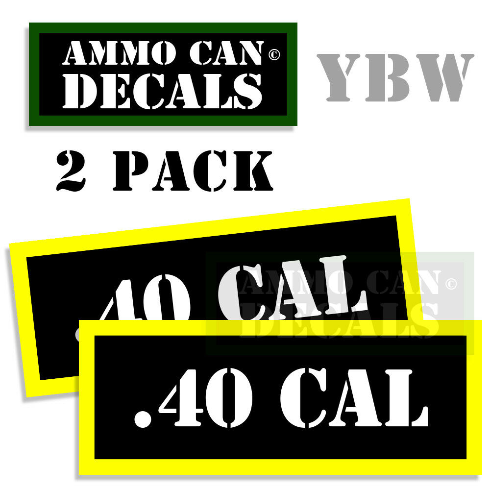 Details about 40 cal ammo label decals box stickers decals 2 pack blyw 3x1 15inches 40 cal