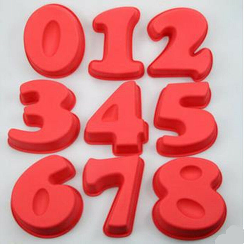 large silicone number cake mould pan baking tin birthday. Black Bedroom Furniture Sets. Home Design Ideas