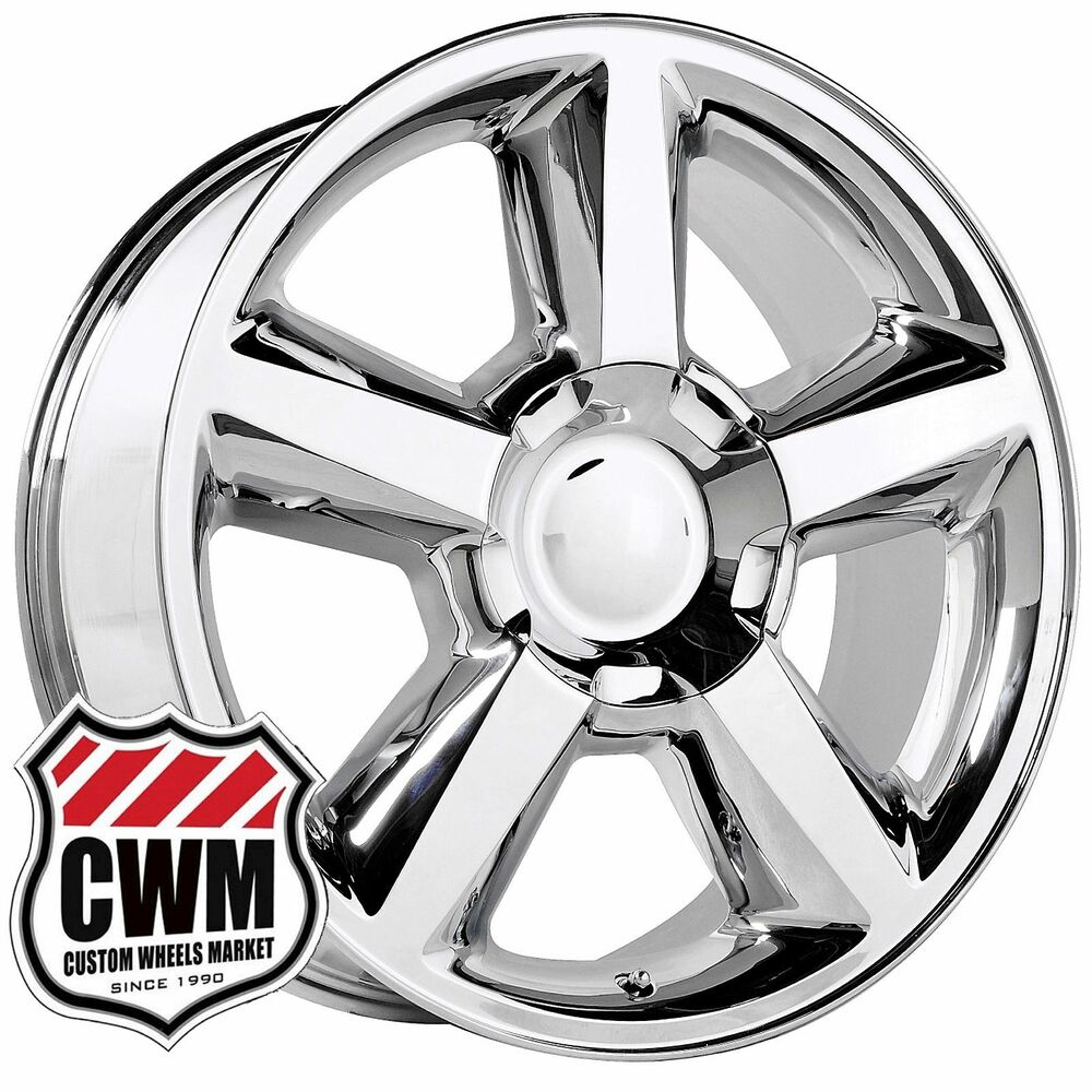 20 inch OE Performance 131C Chevy Tahoe LTZ Wheels Chrome Rims 6 ...