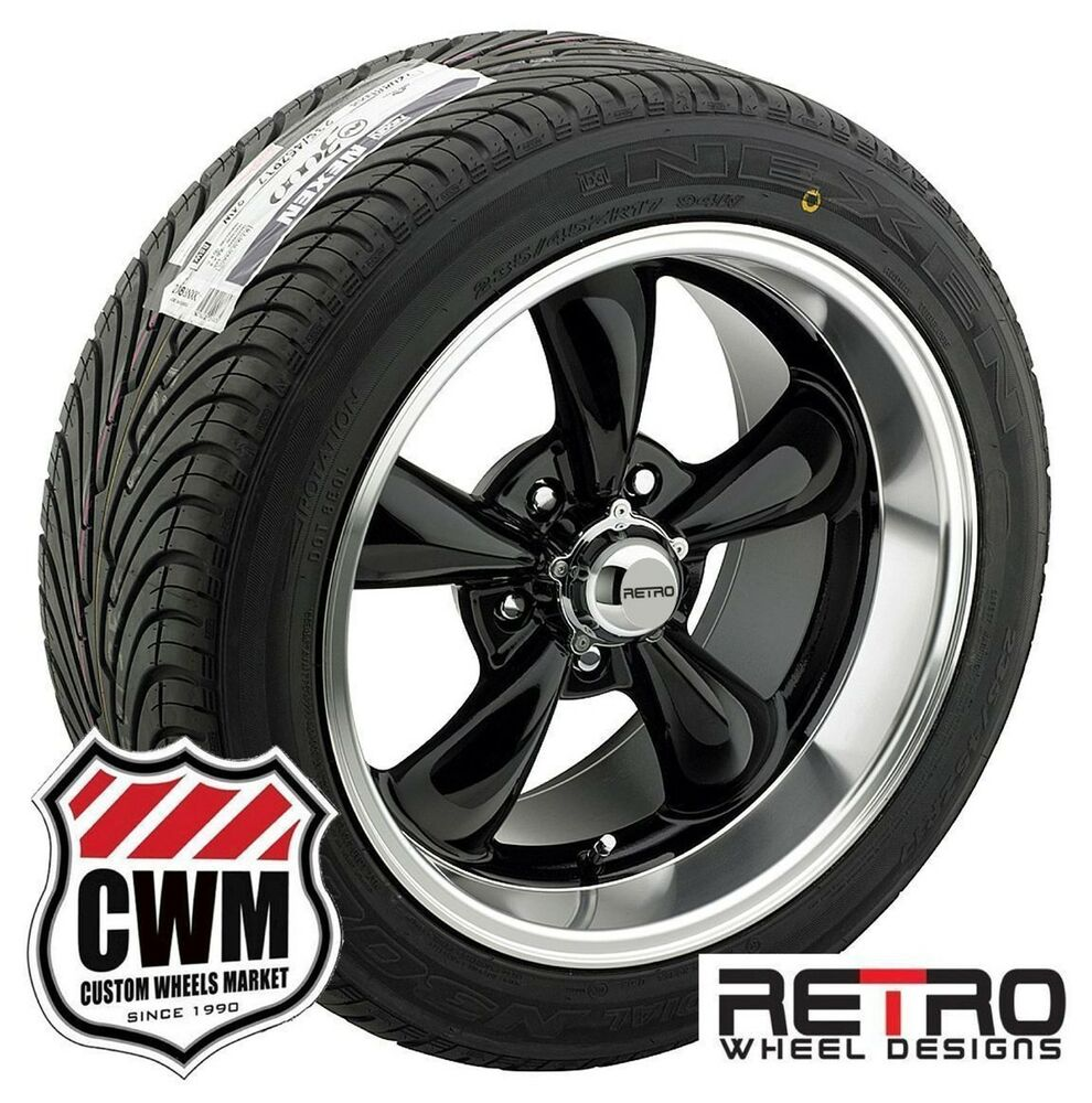 60 Inch Rims On Car : Quot inch staggered black wheels rims tires