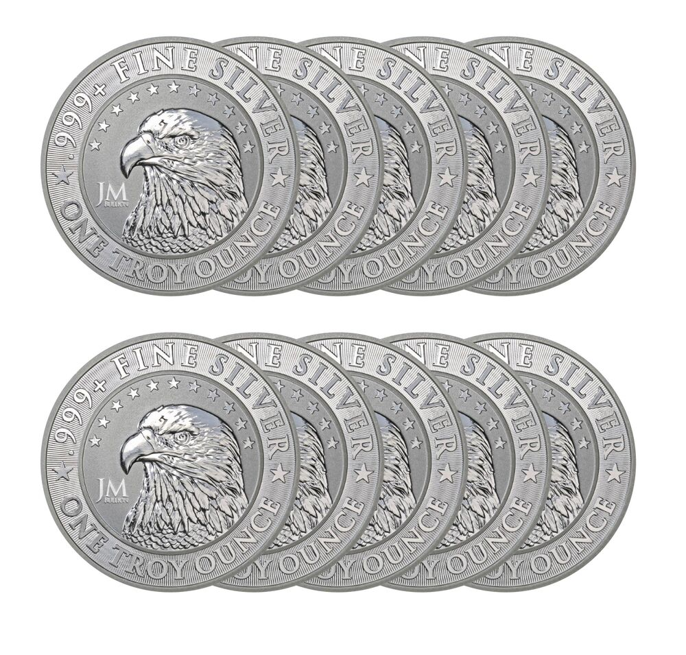 1 Oz Jm Bullion Eagle Silver Round New Reverse Proof